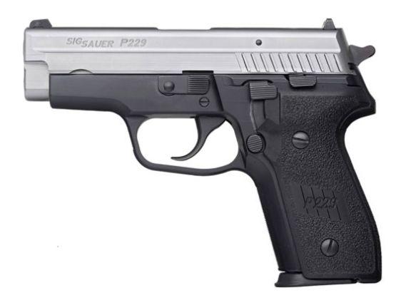 SIG pistol with black textured grip