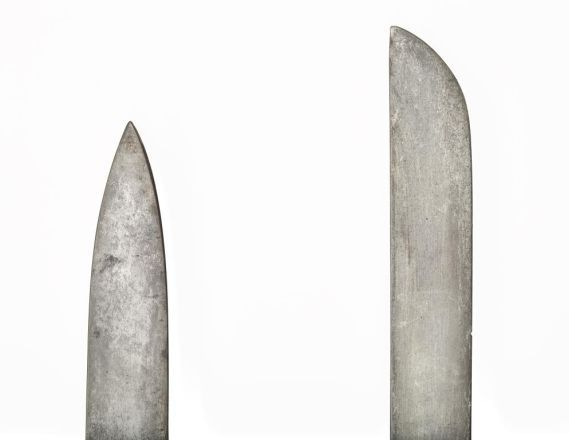Modified tip of a sword compared to the original
