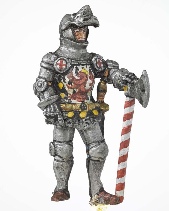 Miniature model of a soldier holding an axe