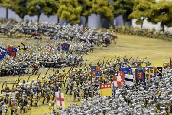 Miniature model of the battle of Agincourt