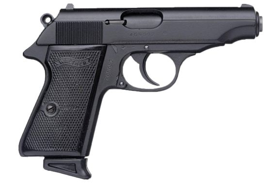 Black Walther pistol with textured grip