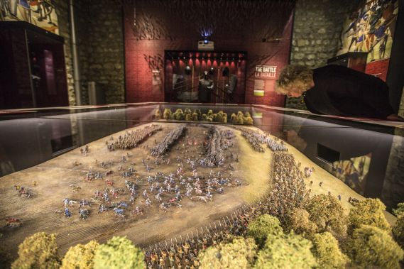 The Agincourt diorama on display at the Tower of London.