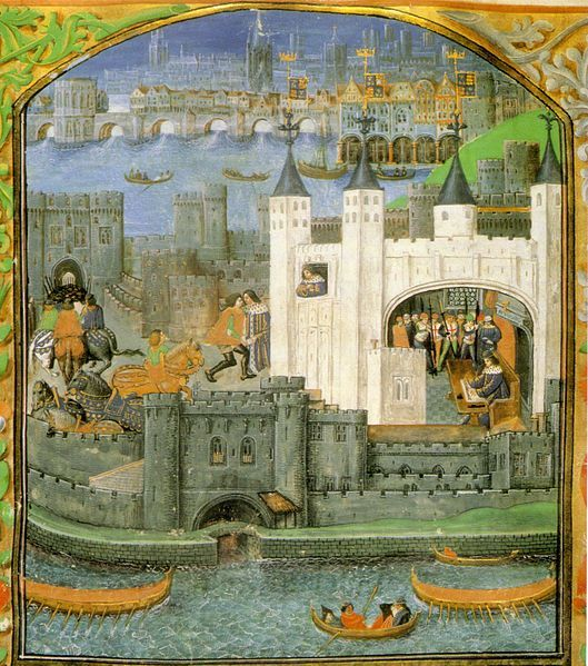Paining depicting inside the walls of the Tower of London