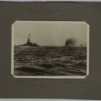 battle ships at sea