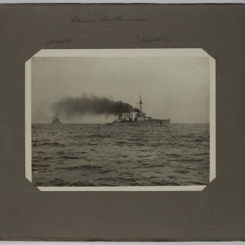 battleship at sea