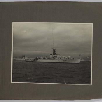 battle ship at sea
