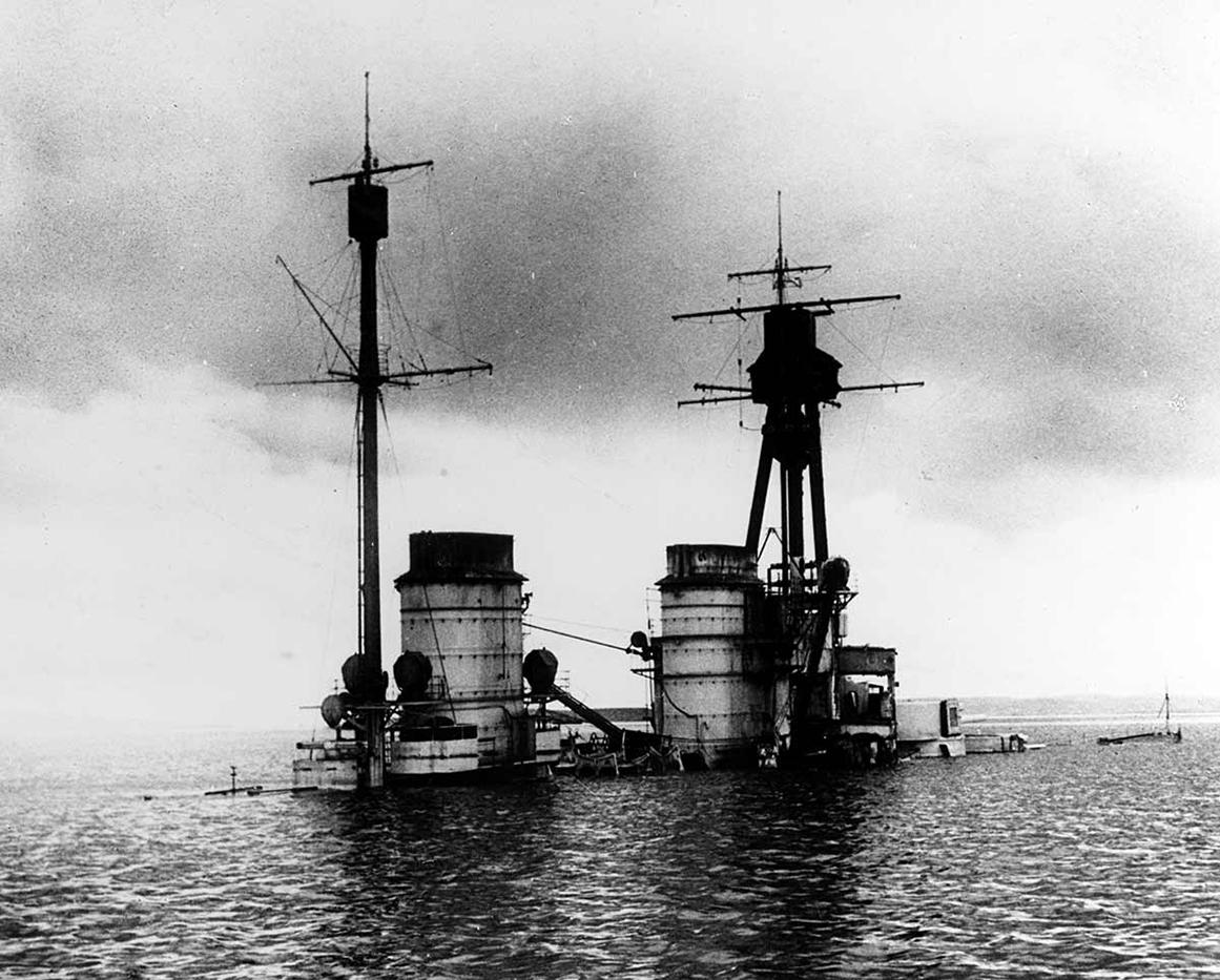 sunken first world war German ship