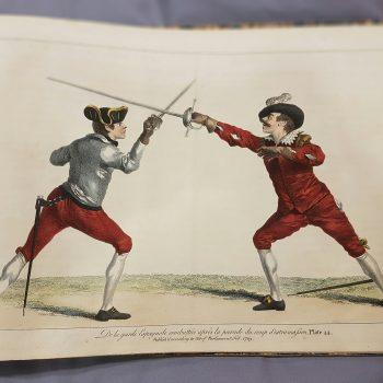 A rare historical fencing manual