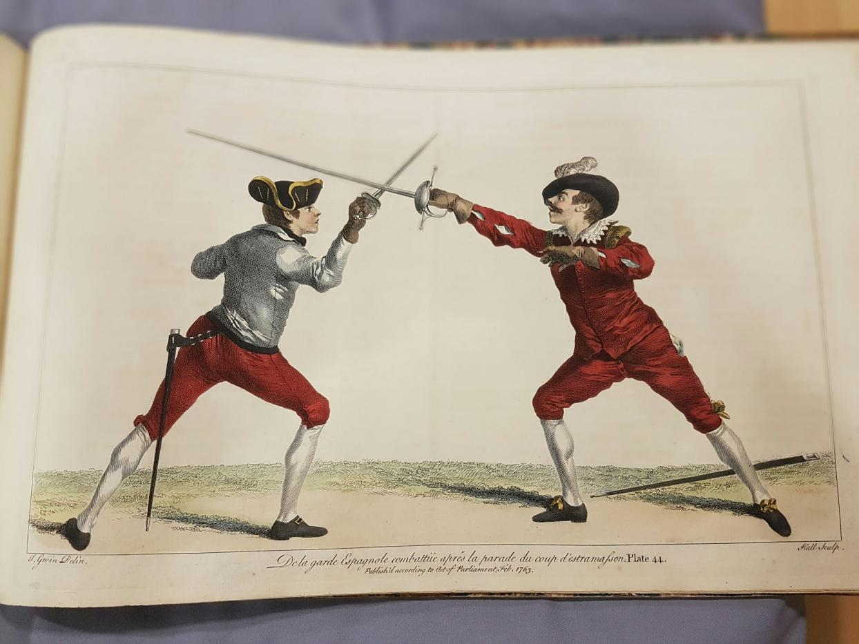 18th century swordmen engaged in swordplay