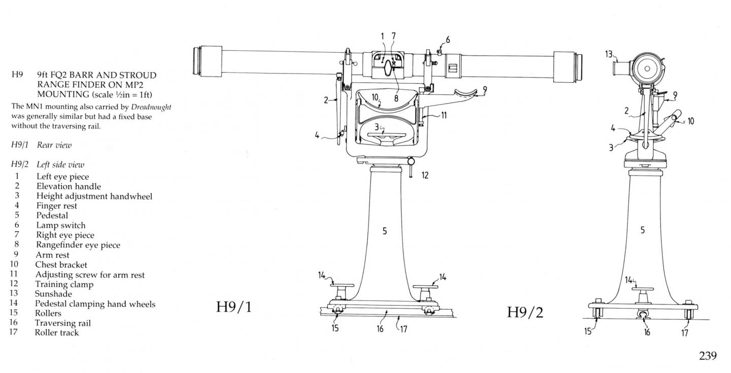 technical drawing of a range finder