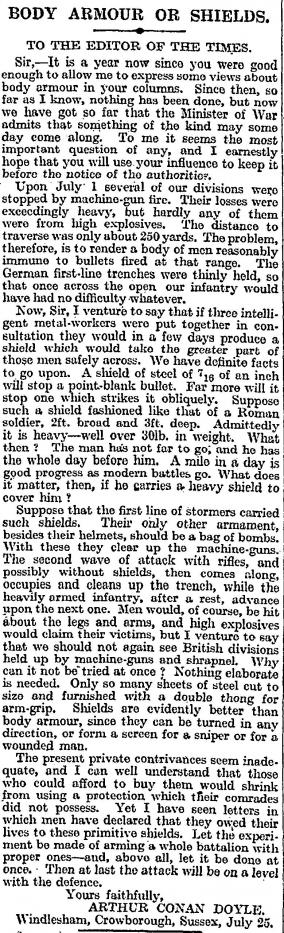 conan doyle Jul 28 1916
