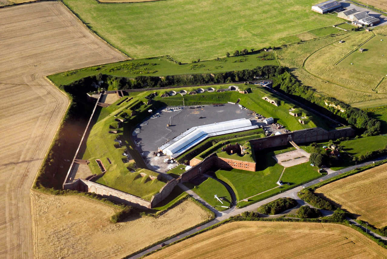 Aerial shot of Fort Nelson