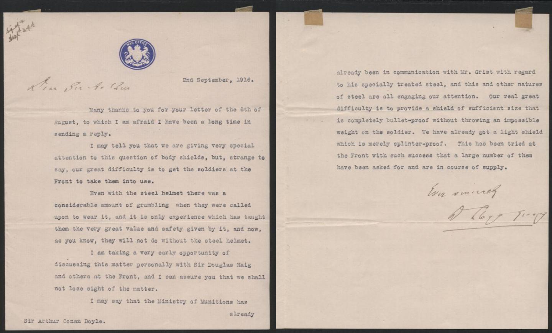 Response from David Lloyd George