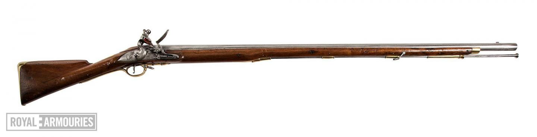 A long barrelled flintlock musket