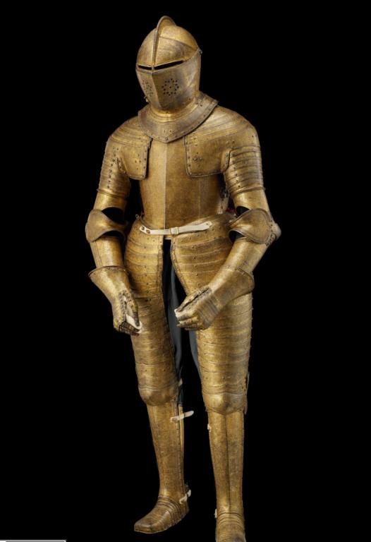 A golden armour