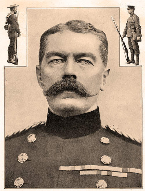 Lord Kitchener in uniform and his trademark moustache