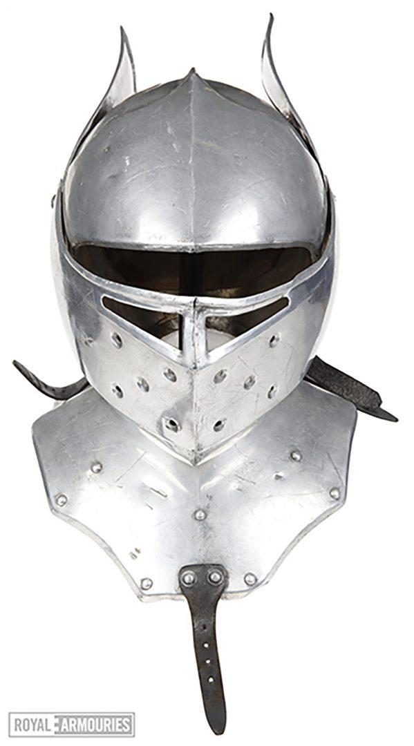shiny silver helmet