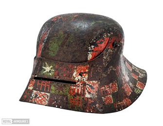 A painted sallet.