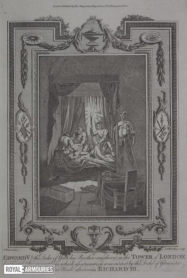 Engraving of murder scene