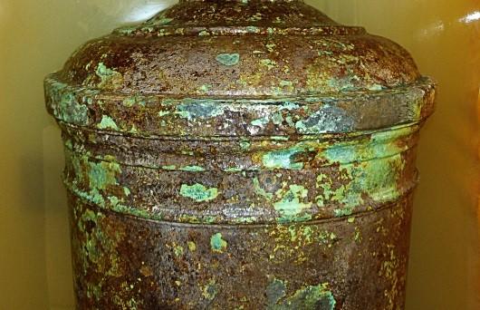 Visible corrosion damage