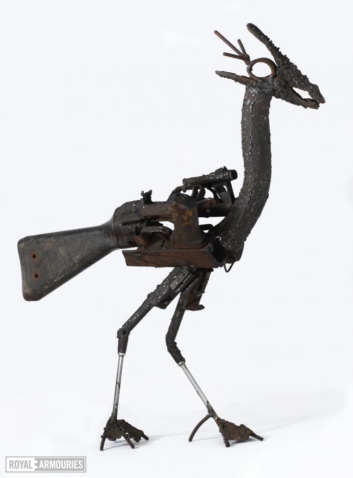 steel bird sculpture