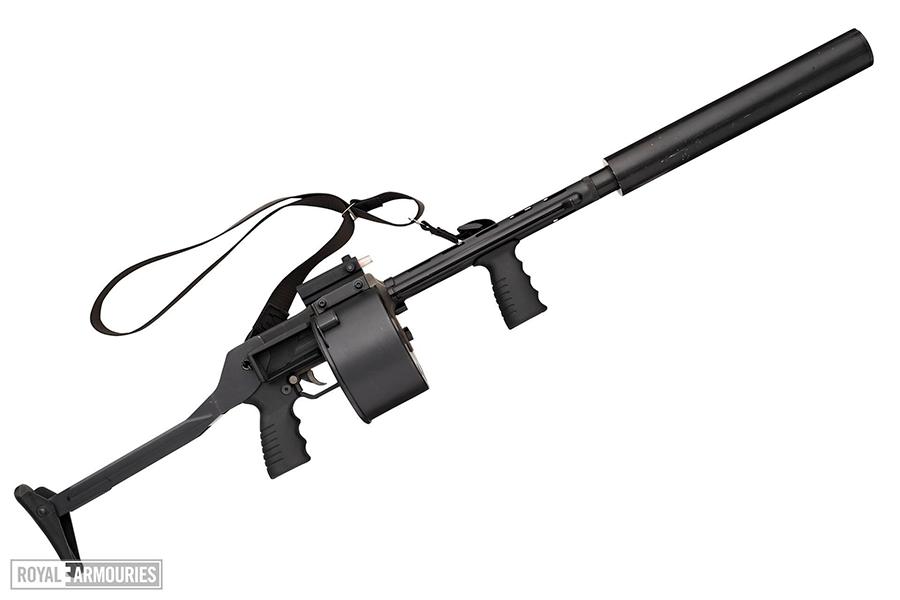 Centrefire repeating shotgun