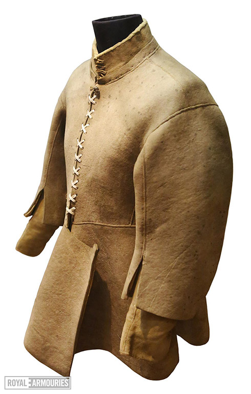 Buff leather coat
