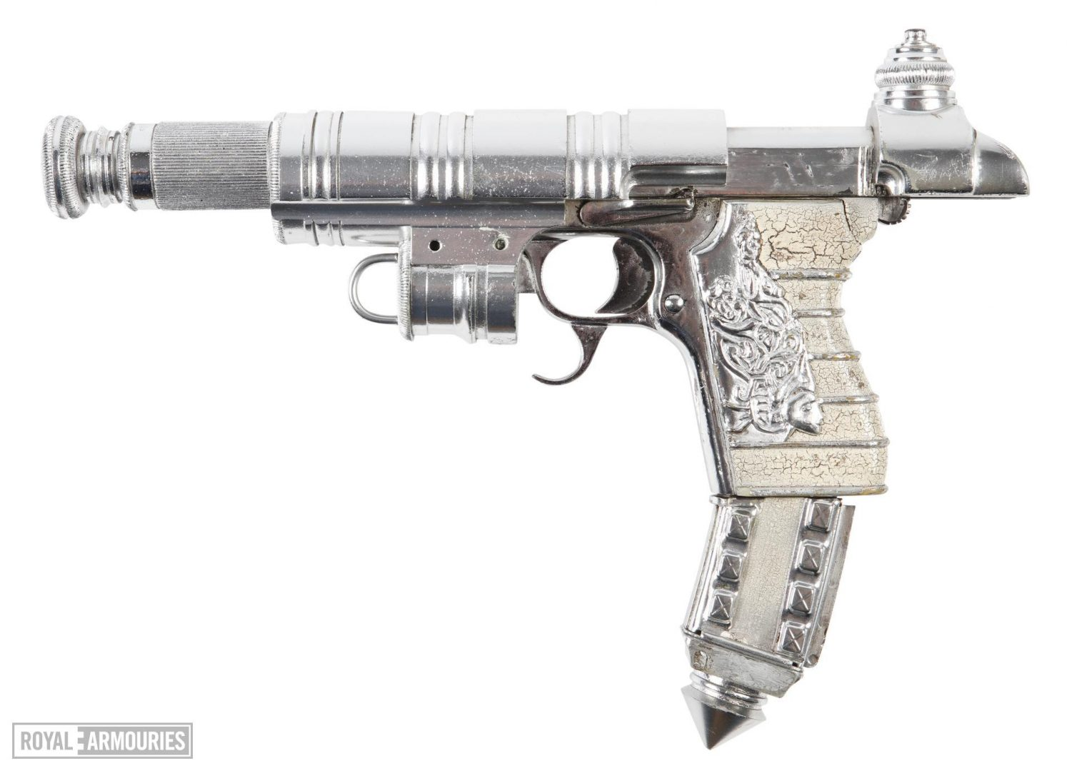Chrome 'steam-punk' pistol