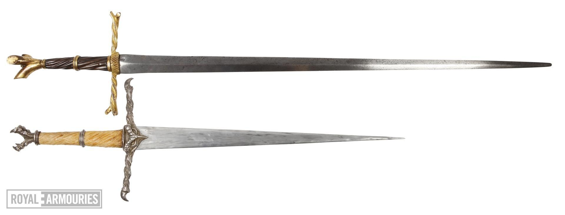 comparison of writehn hilted sword and sword from film