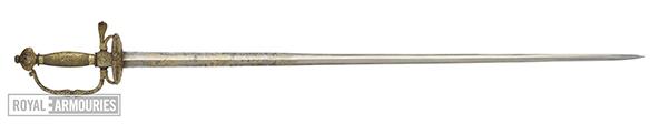 sword with golden hilt