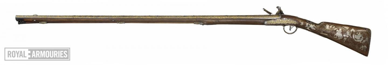 Highly decorated flintlock sporting gun