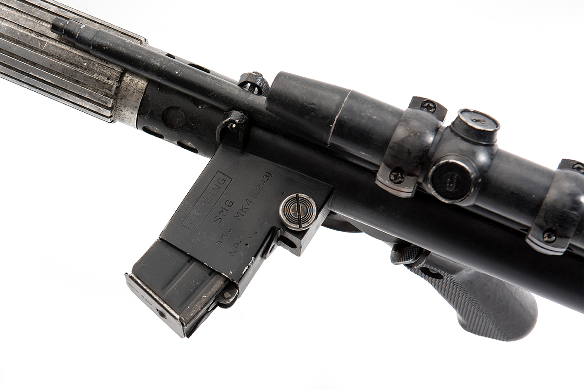 close up of the Star Wars Rebel blaster DH-17
