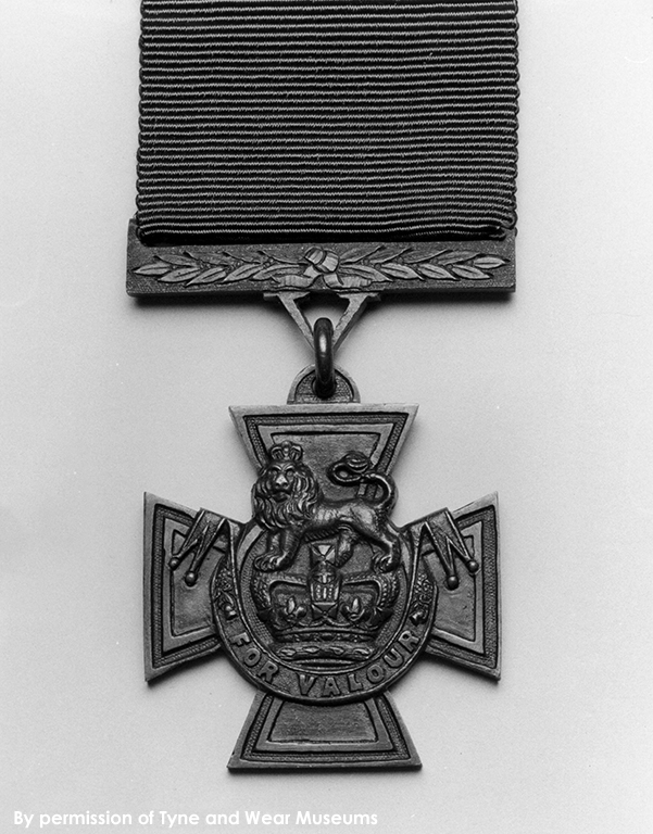 Victoria Cross with suspension bar and ribbon
