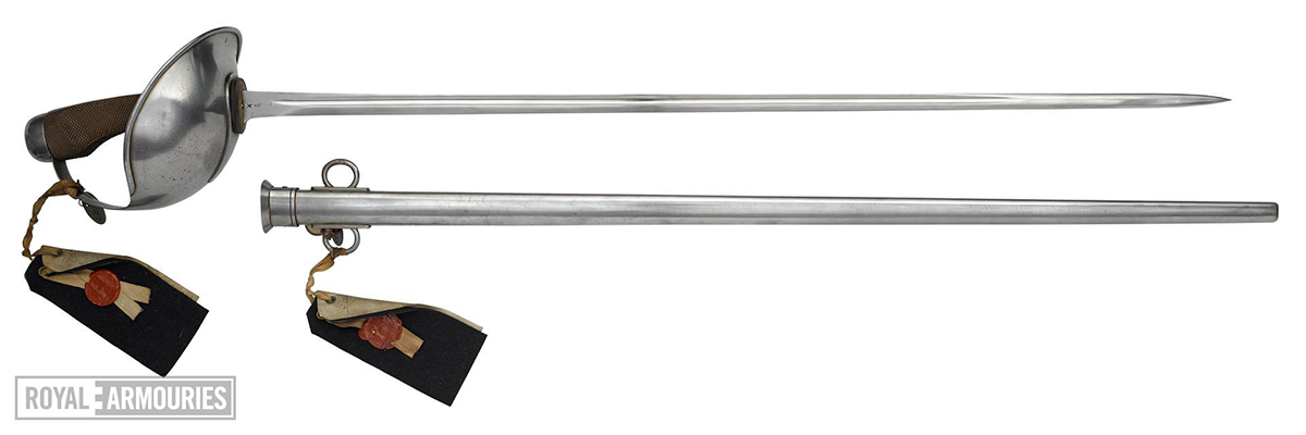 sword and scabbard shown alongside each other