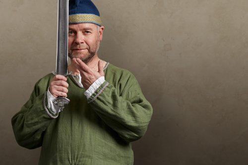 A saxon holding a sword