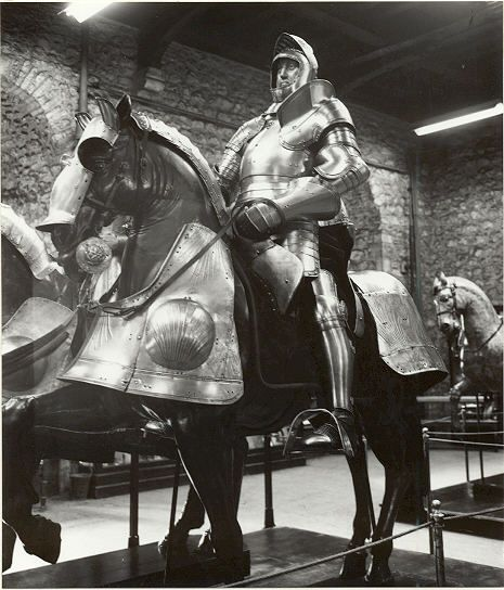 Henry VIII's armour mounted on a horse