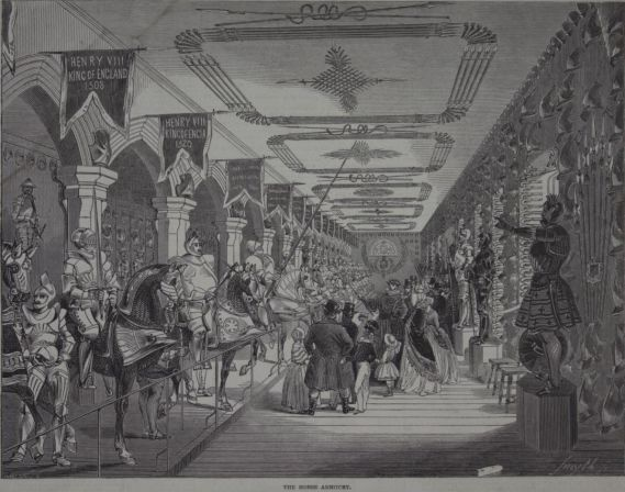 Drawing of Line of Kings at it was depicted in the Illustrated London News