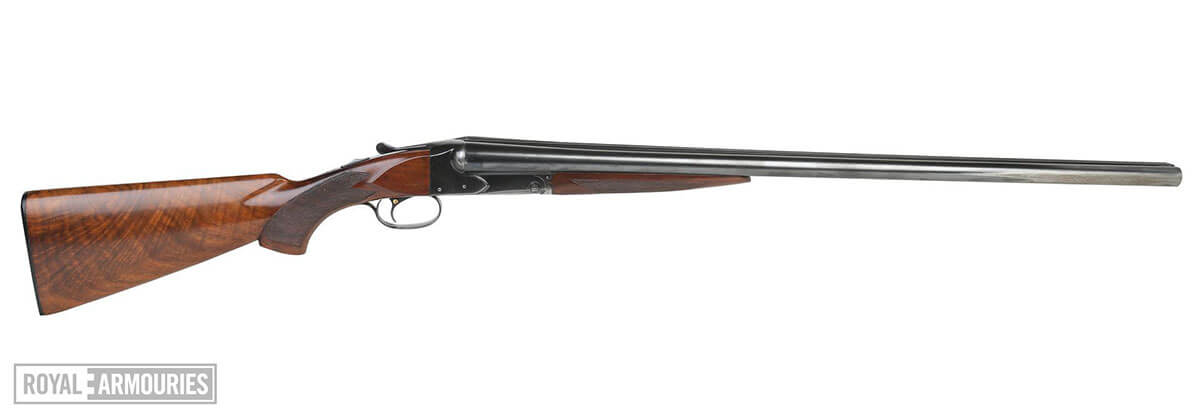 side view of the Biggles Winchester double-barelled shotgun