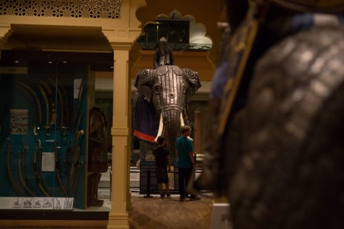 Elephant armour in museum