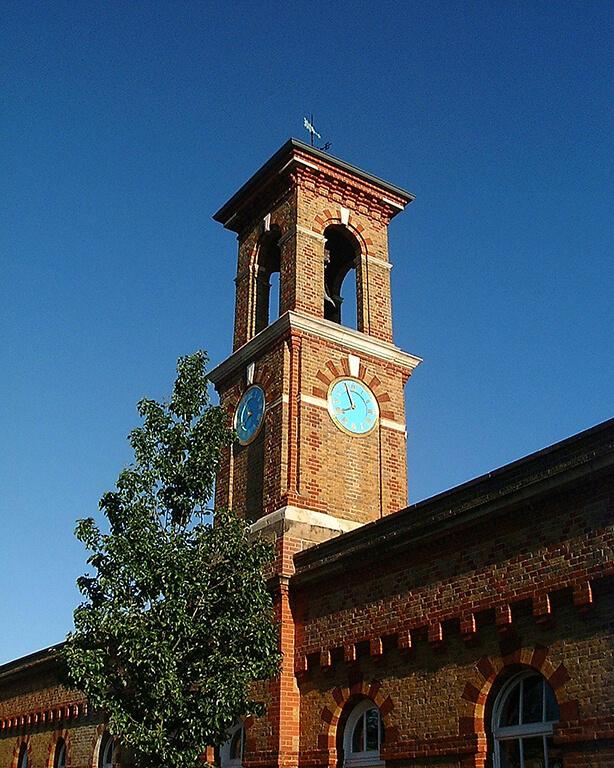 Red brick clock tower