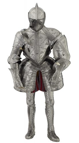Embossed suit of armour