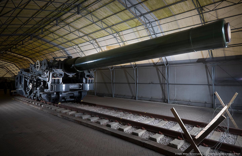 Railway gun on display