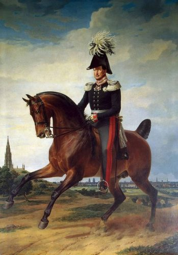 Prussian king on a horse