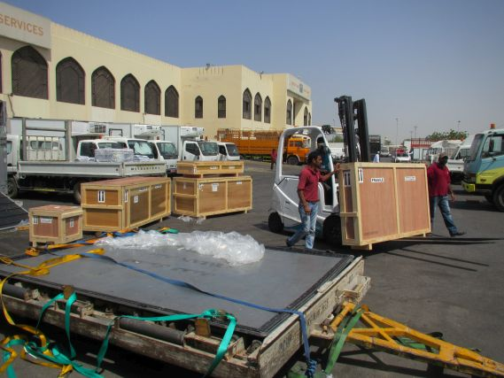 crates being moved