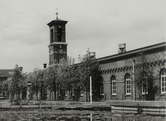 factory and clock tower at enfield