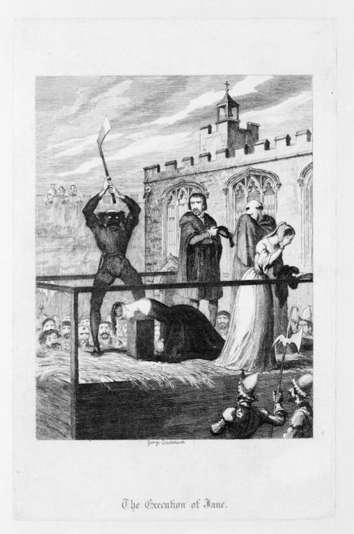 engraving of an execution