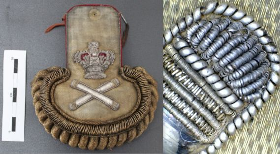 epaulette and a detail of it