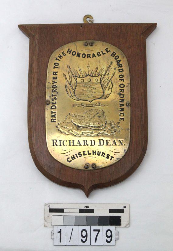 Richard Dean rat destroyer to the honourable board of ordnance - chiselhurst