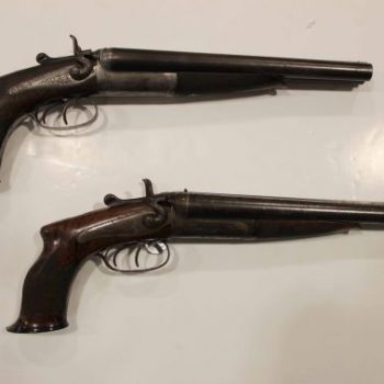 A perfect pair of 'howdah' pistols