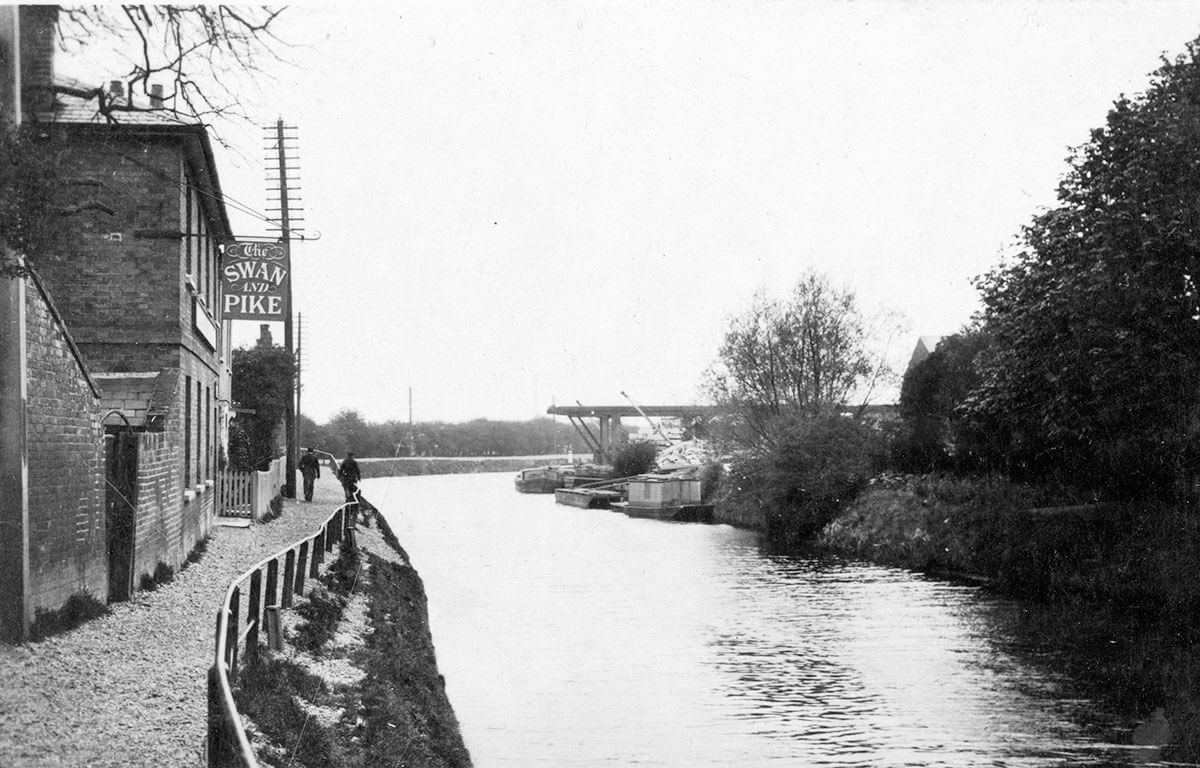 pub on a canal path
